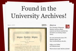 UW-Madison Archives Tumblr