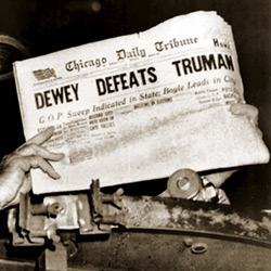 Dewey Defeats Truman headline