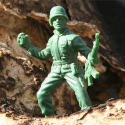 green plastic army man
