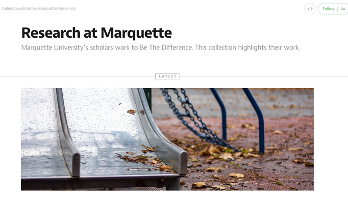 Research at Marquette on Medium