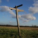 Signpost in a field