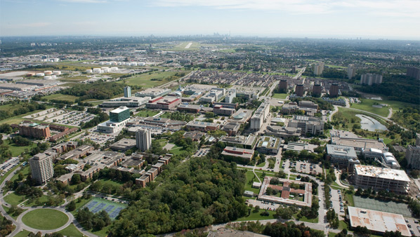 York University campus aerial view